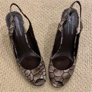 Donald J Pliner slingback heels